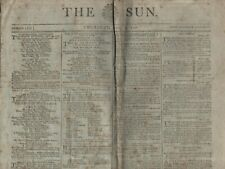 "RARE  NEWSPAPER ""THE SUN"" (7 April 1796) HIGH TREASON - HUMBLE FARMER'S 25 BROOD"