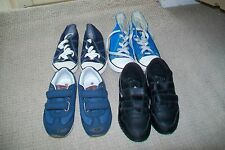 Lot of 4 pairs of boys trainers.Next,Levis,Reebok,Converse.UK 9,10.Used.