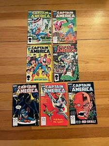Captain America #296 #297 #298 #299 #301 #302 #303 Marvel Comics 1984 ;