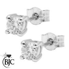 Pendientes de joyería con diamantes en oro blanco diamante VS2