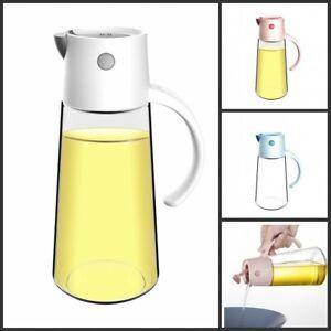 Olive Oil Vinegar Glass Dispenser Vinegar Pourer Bottle Control Switch 650ml UK