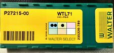 10x Walter Carbide Milling Inserts P27215-00  WTL71