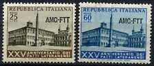 TRIESTE 1954 SG#285-6 trattato del Laterano Gomma integra, non linguellato Set #D60921