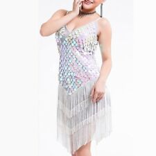 dbfd57473 HJ05# Latin Dance Costume Glittering Sequins Tassel Latin Dress 9 Colors