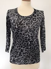 GERY WEBER, Grey Leopard Print Sweater, Size 8, WORN ONCE EXCELLENT CONDITION
