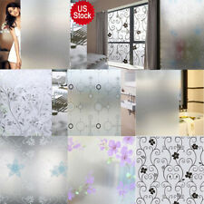 PVC Frosted Glass Window Privacy Self Adhesive Film Sticker Bathroom Home Decor