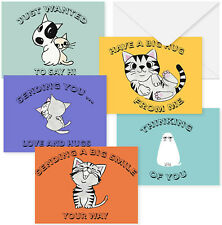 25 Quality Cute Animal Thinking of You Cards. Blank Assorted Greeting Cards