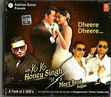 YO YO HONEY SINGH vs MEET BROS ANJJAN INC 'DHEERE DHEERE' 2 CD SET - FREE POST