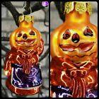 PUMPKIN Girl Halloween Glass Ornament Dept 56 Holiday Black Cmas Feather Tree