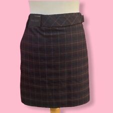 Next Tailoring Tartan Mini A Line Skirt | UK16 - Red Blue Purple - New With Tags