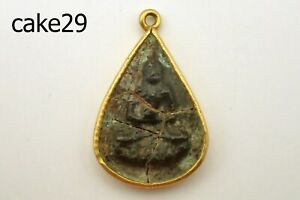 Ancient Shipwrecked Excavated Buddha Solid 20K Gold Pendant #cake29