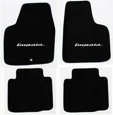 NEW! BLACK Floor Mats 2006-2014 Chevy Impala Embroidered Script Logo Silver Set