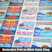 250 Fully Customized Oil Change Service Reminder Sticker Static Cling or LowTack