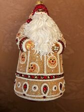 2007 Patricia Breen Sublime Santa - Gingerbread Glittered With Jewels