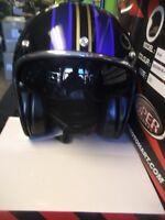 Viper RS-V06  RSV06 Jet Open Face Helmet Scooter blue Inner Sun Visor  Vespa New
