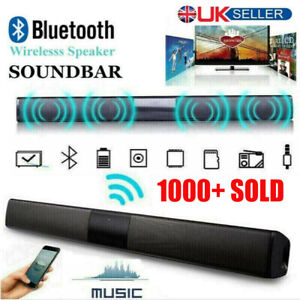 TV Theater Soundbar Bluetooth Sound Bar Speaker System Subwoofer w/ Remote Home