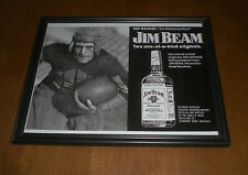 JIM BEAM BOURBON & RED GRANGE THE GALLOPING GHOST FRAMED B&W AD PRINT