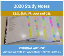 CPA Study Notes & Index - E&G, SMA, FR, GSL and AAA - pick one subject!