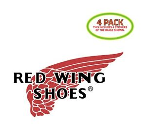 Red Wing Sticker Vinyl Decal 4 Pack