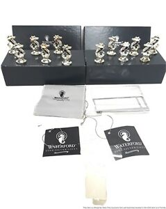 Set of 12 Boxed Waterford Seahorse Place Card Holders w/ Papers