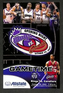 LeBron James NBA Debut program Cavs vs Kings Oct 29, 2003 VERY RARE 1 OF A KIND!