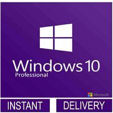 MICROSOFT WINDOWS 10 PRO KEY 32 64 BIT ACTIVATION CODE LICENSE GENUINE KEY INSTN