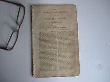 Vermont Rural Magazine Repository Colonial Magazine Antique William Penn 1796