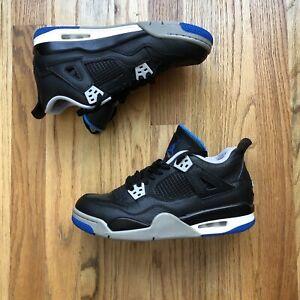Nike Air Jordan 4 IV Retro Motorsports Alternate Black Blue Sz 6.5Y (408452-006)