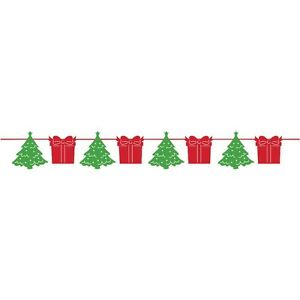 Cheerful Red & Green Festive Christmas Garland Banner Decoration CHEAP CLEARANCE