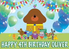 LARGE HEY DUGGEE BIRTHDAY POSTER BANNER PERSONALISED ANY COLOUR NAME TEXT