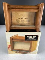 Teak Wood Recipe Box Winsome Wood With Cards New Old Stock