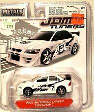 Jada JDM Tuners 02 Mitsubishi Lancer Evolution 7 White 1/64 Scale Diecast Metal