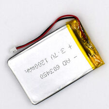 3.7V 1200 mAh 603450 Battery Li-Polymer Rechargeable 2Pin 1.25 LiPo Cell for GPS