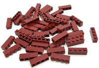 LEGO LOT OF 50 NEW DARK RED 1 X 4 DOT BUILDING BLOCKS PIECES