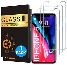 3x Echt Glas Panzerfolie für iPhone 11 PRO X XR XS MAX Display Schutzfolie 9H