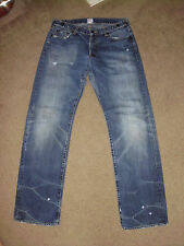PRPS Men's BARRACUDA Worn 33 x 34 Straight Leg Made in Japan Jeans P31 P03CC