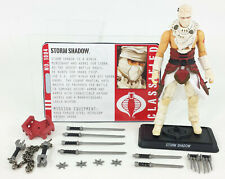 G.I. JOE PURSUIT OF COBRA HASBRO 2010 DESERT BATTLE STORM SHADOW NINJA 4 INCH