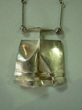 RARE 1972 SIGNED BJORN WECKSTROM LAPPONIA FINLAND STERLING MODERNIST NECKLACE