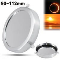 Silver 90~112 mm Solar Filter Baader Film Metal Cover For Astronomical Telescope