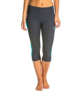 NEW BALANCE | Womens Grey & Blue Leggings / Pants [ Size L or AU 14 or US 10 ]