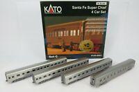 N Gauge Kato 106-6003 Santa Fe Super Chief 4 Car Set Sleeper Coaches