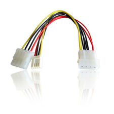 Molex Internal IDE Power Y Splitter Pass Through Cable to Floppy Disk Drive Plug