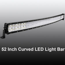 Curved 52inch 6272W Quad Rows LED Light Bar Spot Flood For Jeep Ford Truck 4x4wd