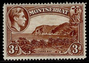 MONTSERRAT GVI SG106a, 3d red-brown, M MINT.