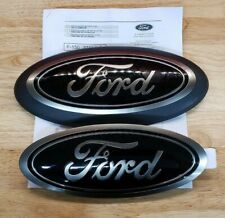"New 2018-2021 Ford F-150 11"" Front & Rear Combo Black Emblems W/O Camera,Oem"