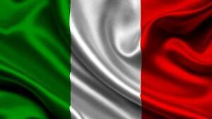 Bandiera italiana esterno cm 100x150 poliestere nautico outdoor Italia flag
