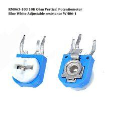 Rm063 103 10k Ohm Vertical Potentiometer Blue White Adjustable Resistance Wh06 1