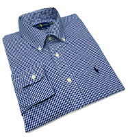 Polo Ralph Lauren Gingham Long Sleeve Check Shirt Classic fit  NavyBlue / White