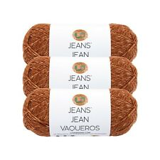 Lion Brand Yarn 505-121 Jeans Yarn, Top Stitch (Pack of 3 skeins)