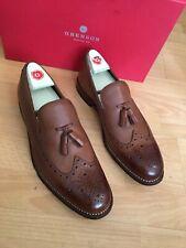 Grenson Lucien Tan Dipped Leather Tassel Loafer Uk 9, RRP£235
